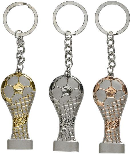Fußball Schlüsselanhänger 12,5 cm Figuren Pokal