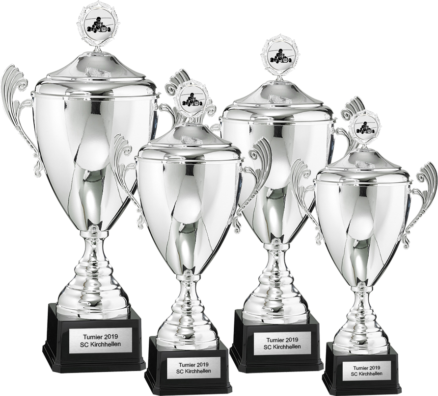 4er Pokalserie 44-57cm Pokale Silberpokal silber
