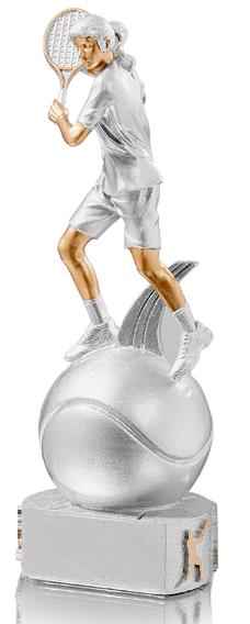 Tennis Frauen Trophäe Figuren Pokal ohne Emblem