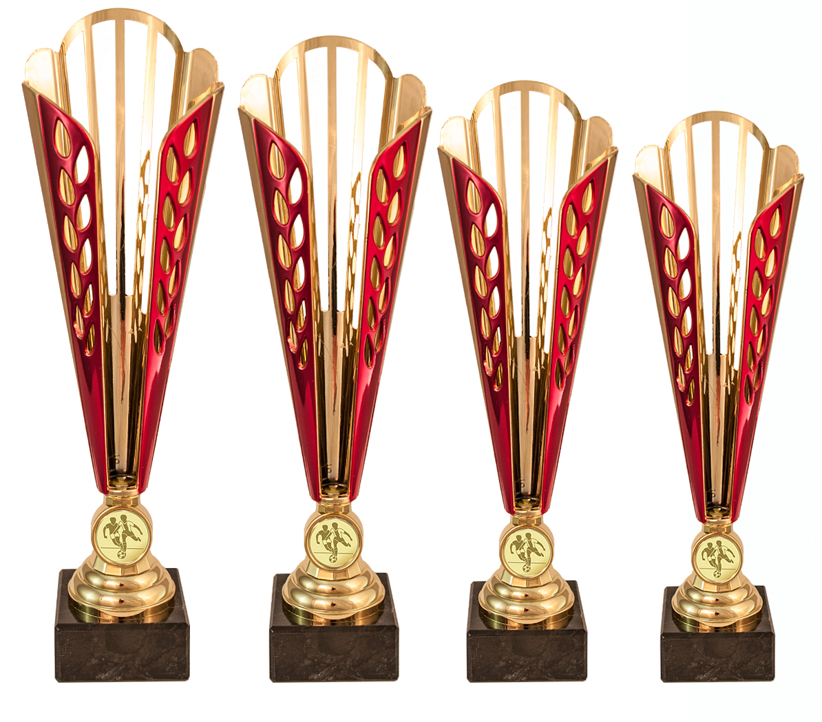 Pokale aus 4er Pokalserie: 74X181 - 74X184, 32,0 cm - 36,5 cm