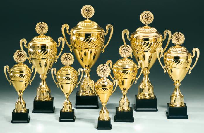 Pokale aus 8er Pokalserie: 68580 - 68587, 36,0 - 55,5cm
