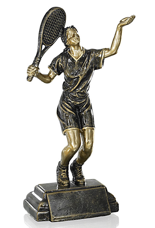 Resinfigur Damentennis 23cm Figuren Pokal ohne Emblem