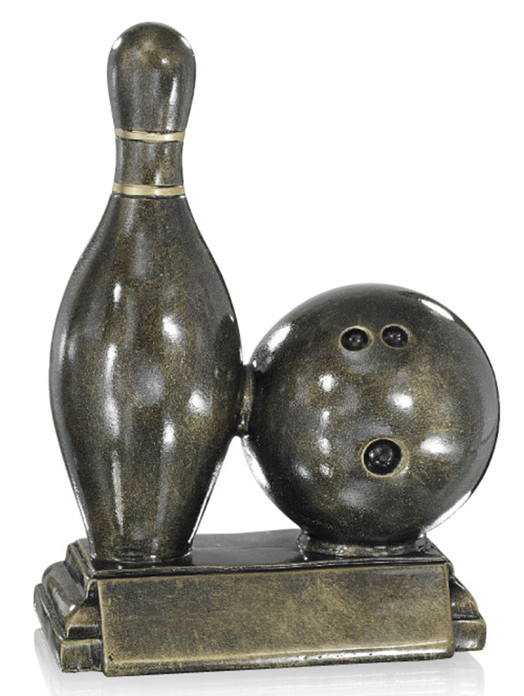 Bowling-Figur in 21 cm Figuren Pokal ohne Emblem