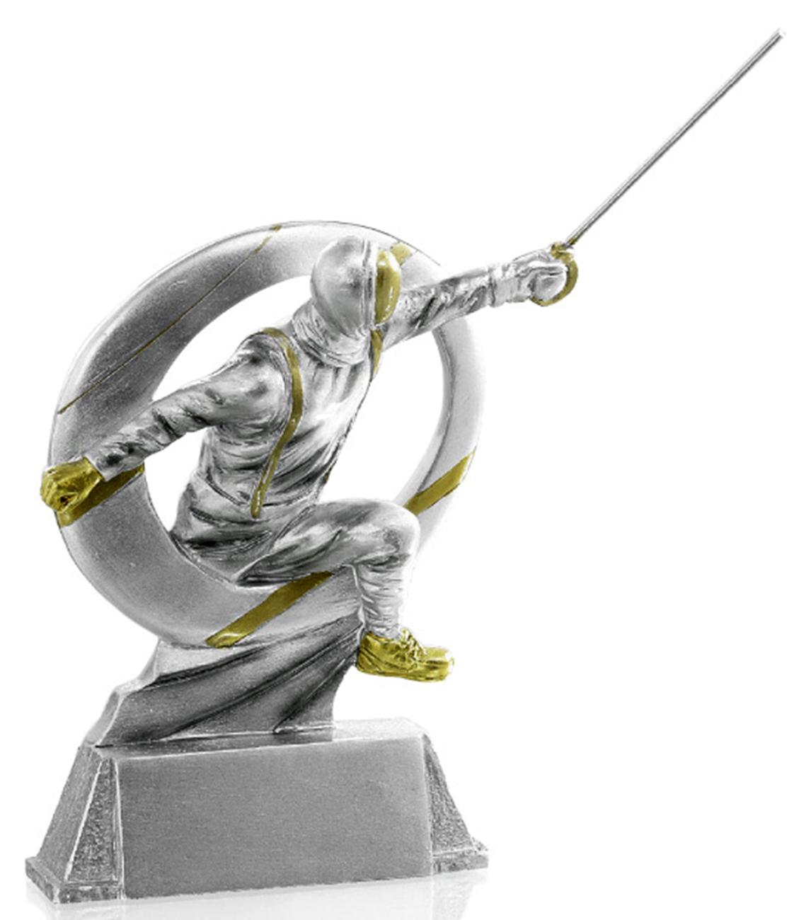 Pokale Fechten Figur 17cm Figuren Resinfiguren