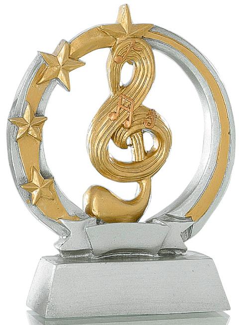 Pokale Musik Figur: 9-114-31243 in 13 cm