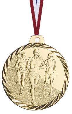 Laufen Frauen Medaille geprägt Medaillen Premium hochwertig edel