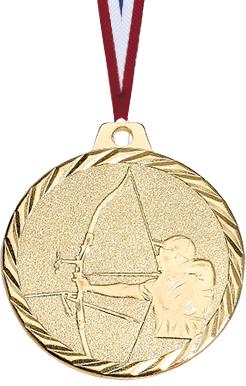 Bogenschießen Medaille geprägt Medaillen Premium hochwertig edel