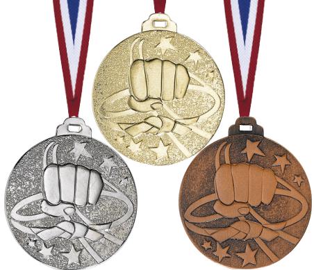 Judo Medaille geprägt Medaillen Premium hochwertig edel