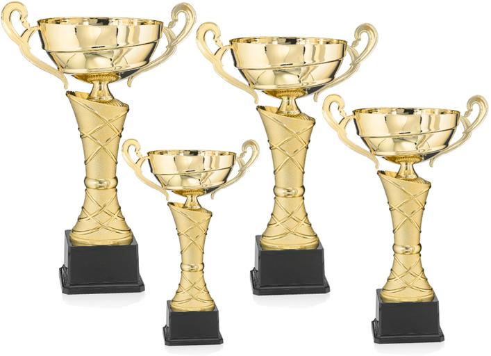 Pokale aus 4er Pokalserie: 9-32-31 - 9-32-34 , 27 - 39 cm