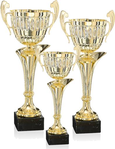 Pokale aus 3er Pokalserie: 9-36-32 - 9-36-34, 39 - 49 cm