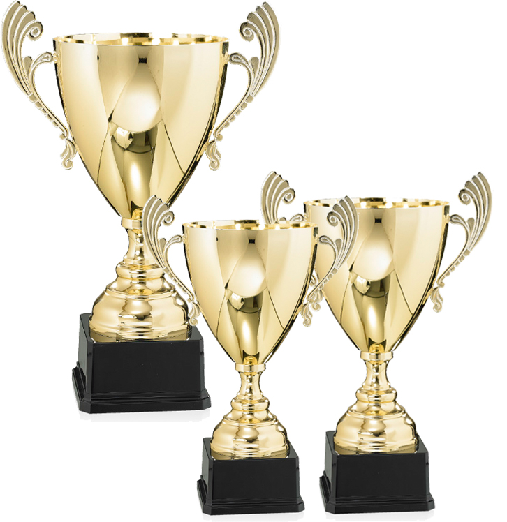 Pokale aus 3er Pokalserie: 9-57-41-9-57-43.3, 30 - 39 cm