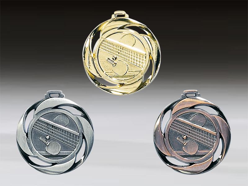 Tischtennismedaille Metall geprägt