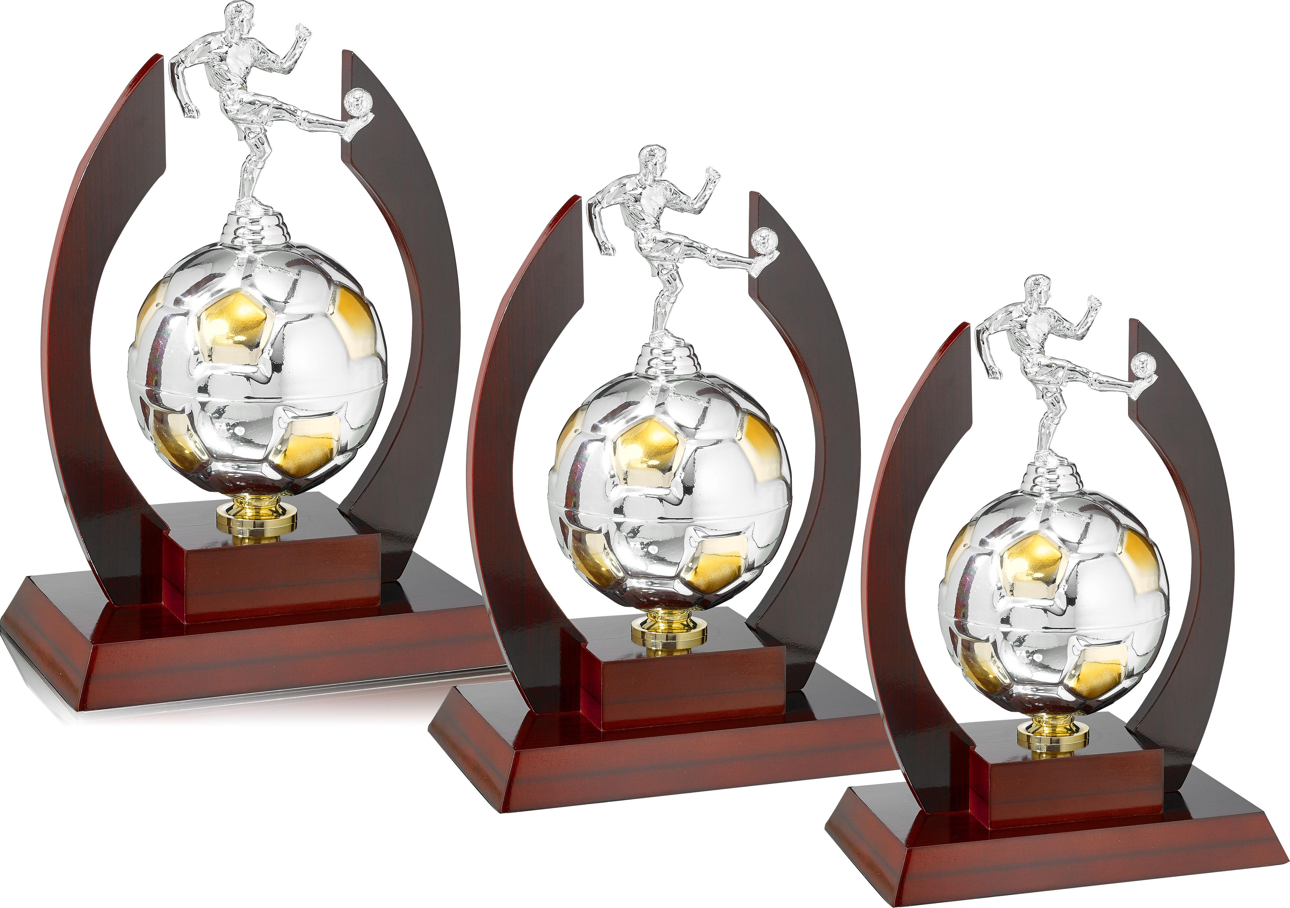 3er Pokalserie: 34-38cm Pokale Pokale ohne Deckel