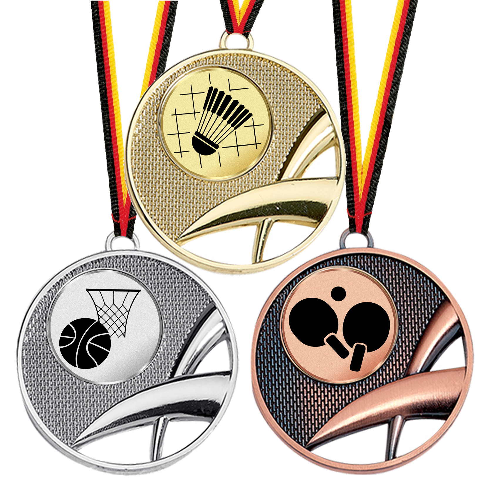 Pokal Emblem Radsport 25 mm//bronze