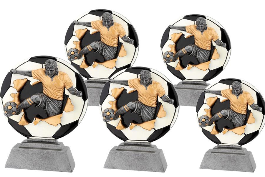 3D Fußballtrophäe aus 5er Serie 13-23cm (06-FG1016)