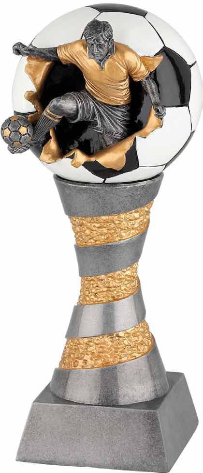 Fußball- Riesen Poly-Resin Figur 80 cm hoch