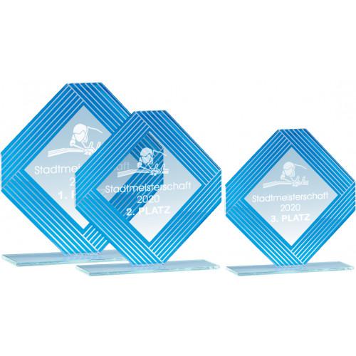 Auswahl aus Glastrophäenserie 16 bis 20cm