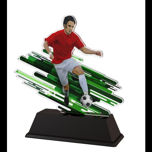 Fußball-Trophäe Stürmer -  in 3 Größen: 13,5 cm, 14,5 cm oder 15,5 cm hoch - 17-FA200C_B_A_M3