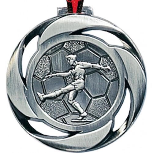 Fußballmedaille Metall geprägt 40mm Ø
