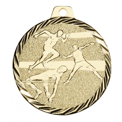 Leichtathletik Medaille geprägt 50mmØ