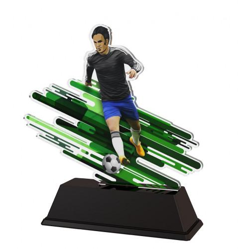 Fußball-Trophäe Spieler -  in 3 Größen: 13,5 cm, 14,5 cm oder 15,5 cm hoch - 17-FA200C_B_A_M4