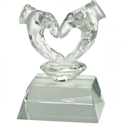 Glasfigur Herz Valentinstag