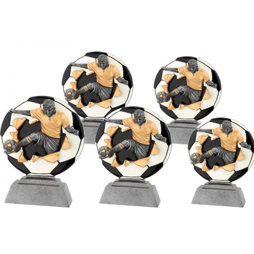 3D Fußballtrophäe aus 5er Serie 13-23cm (6-XP FG1016)