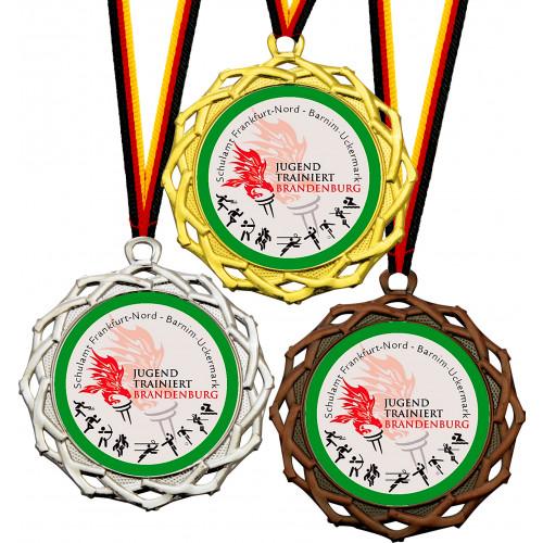 Medaille mit Ihrem Emblem 70mm Ø