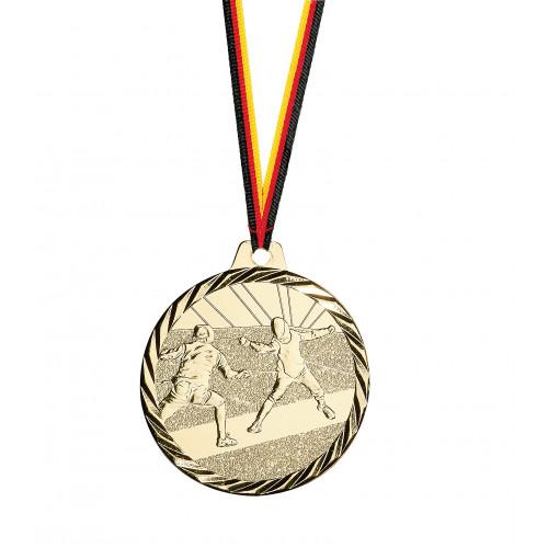 Medaille, Fechten, günstig, schön