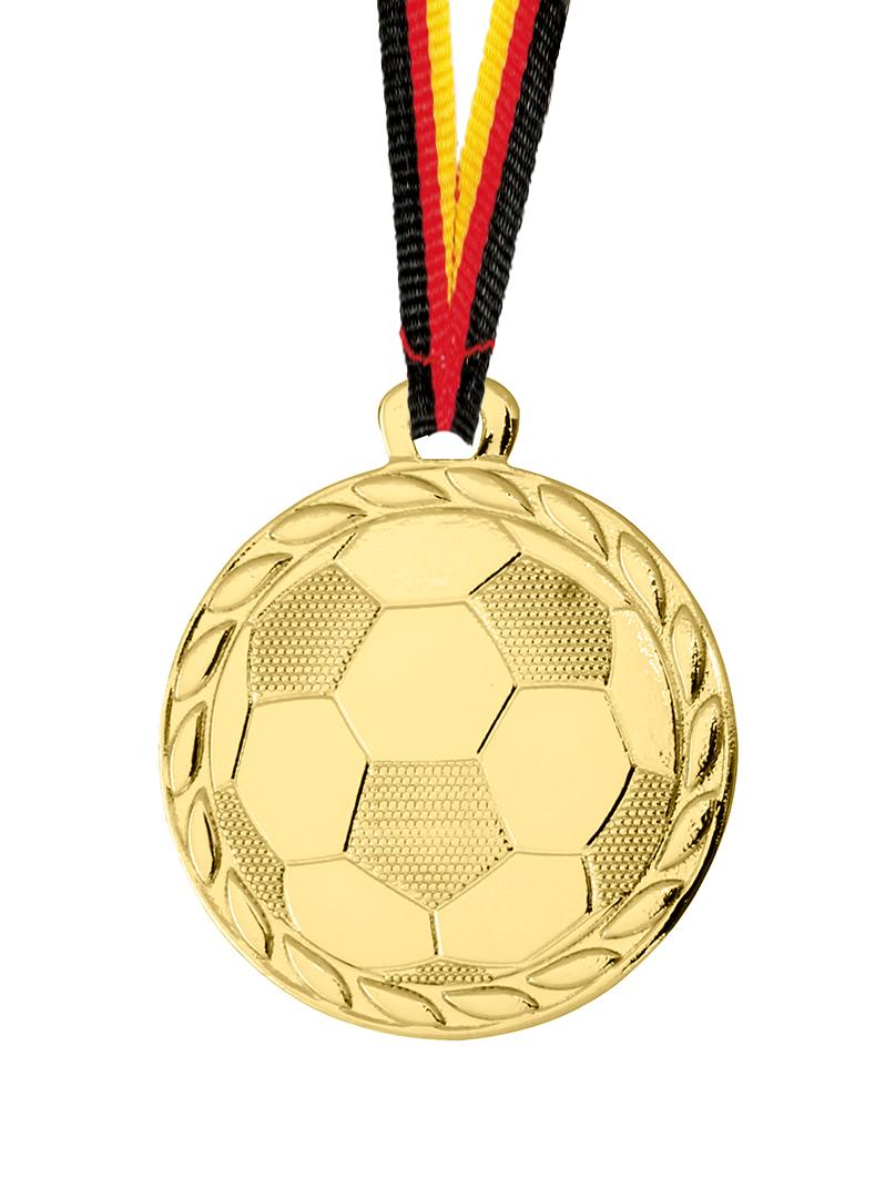 Medaillen, Motiv: Fußball, 32 mm Ø Medaillen Premium hochwertig edel