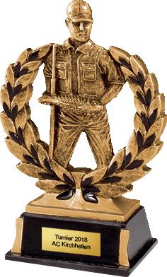 Resinfigur Angelsport 13,5 cm Figuren Pokal ohne Emblem