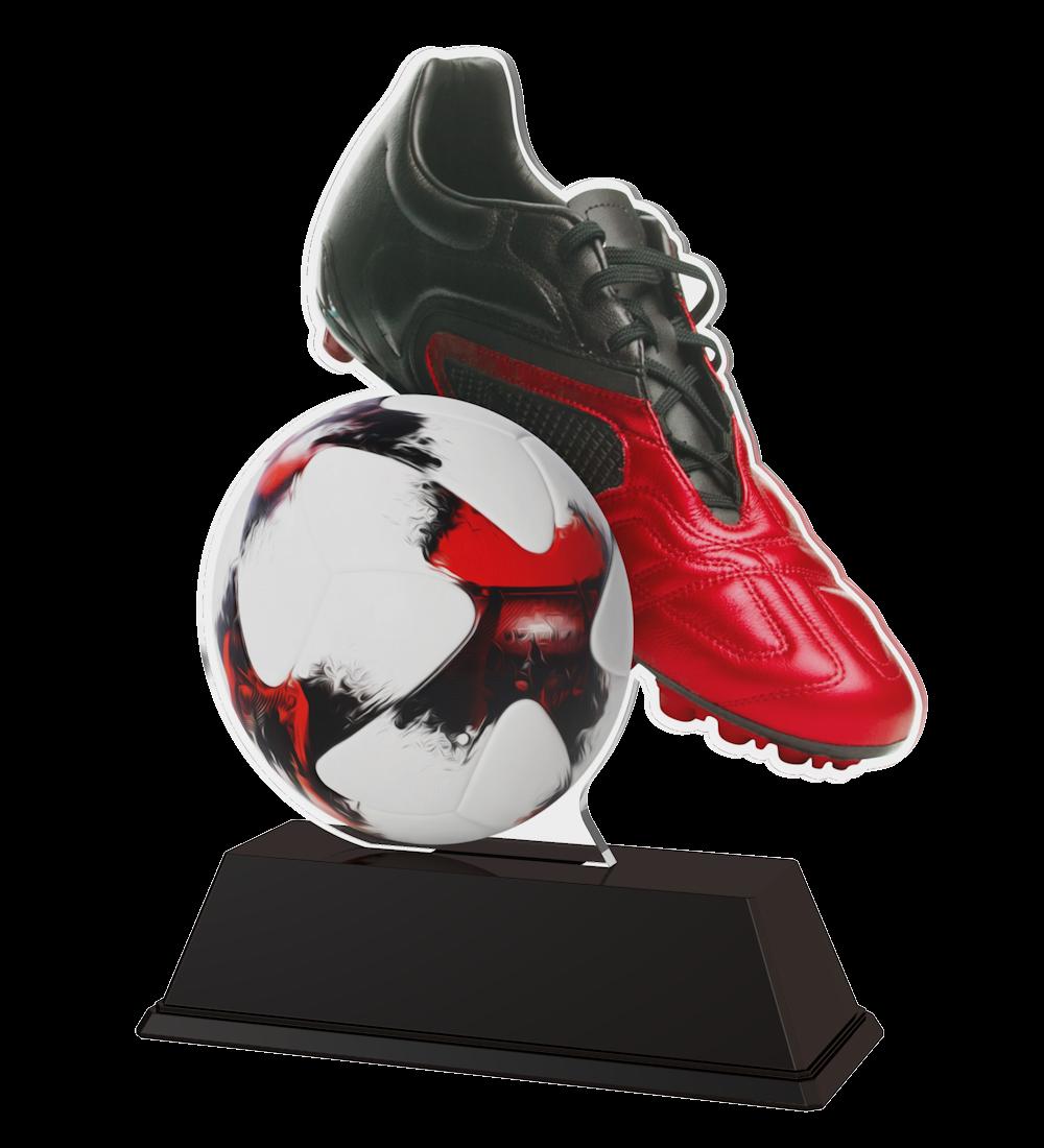 Fußball-Trophäe (M1) in 3 Größen: 14,5 cm, 15,5 cm oder 16,5... Figuren Pokal ohne Emblem