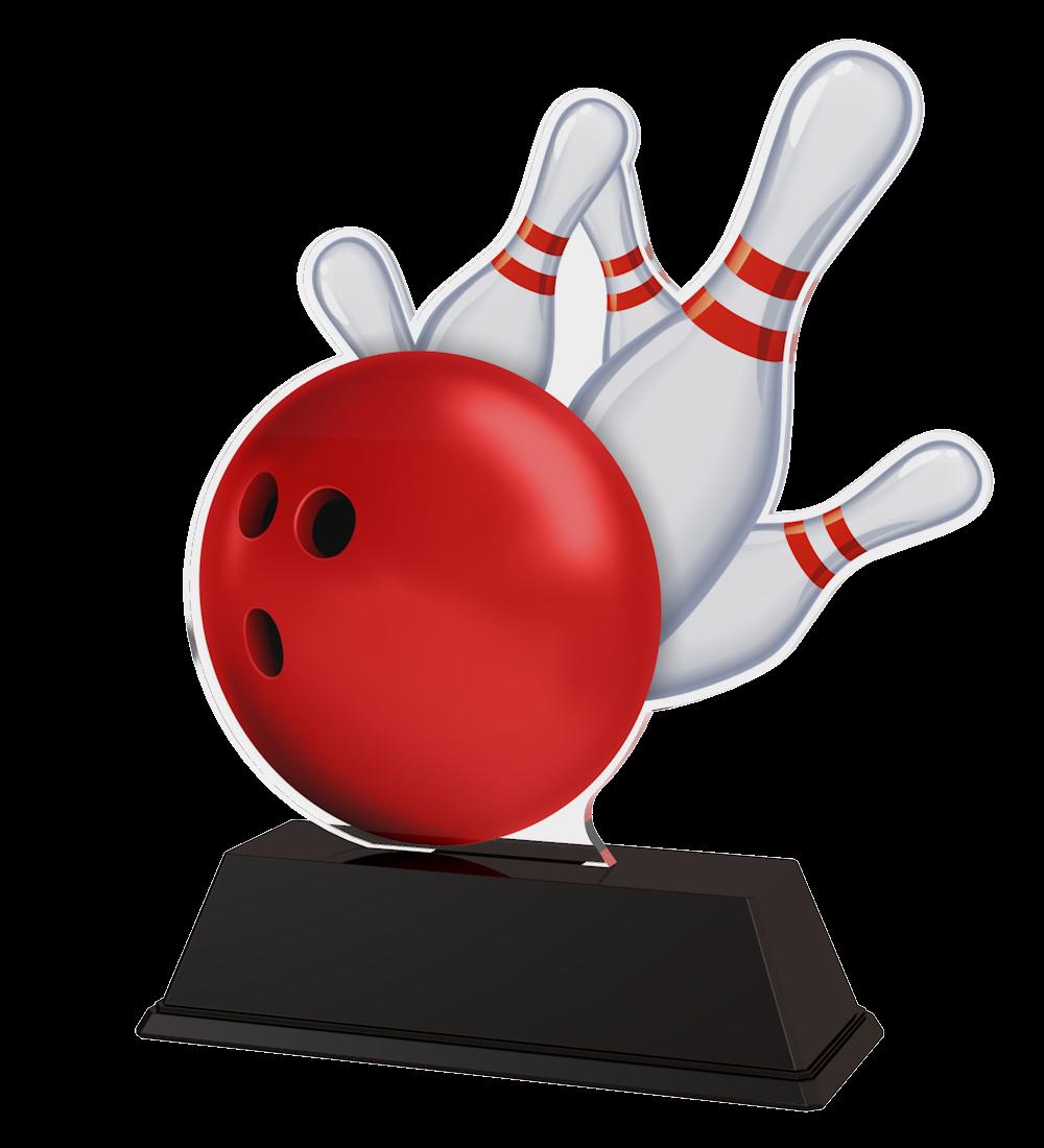 Bowling-Trophäe (M18) in 3 Größen: 14 cm, 15 cm oder 16 cm hoch... Figuren Pokal ohne Emblem
