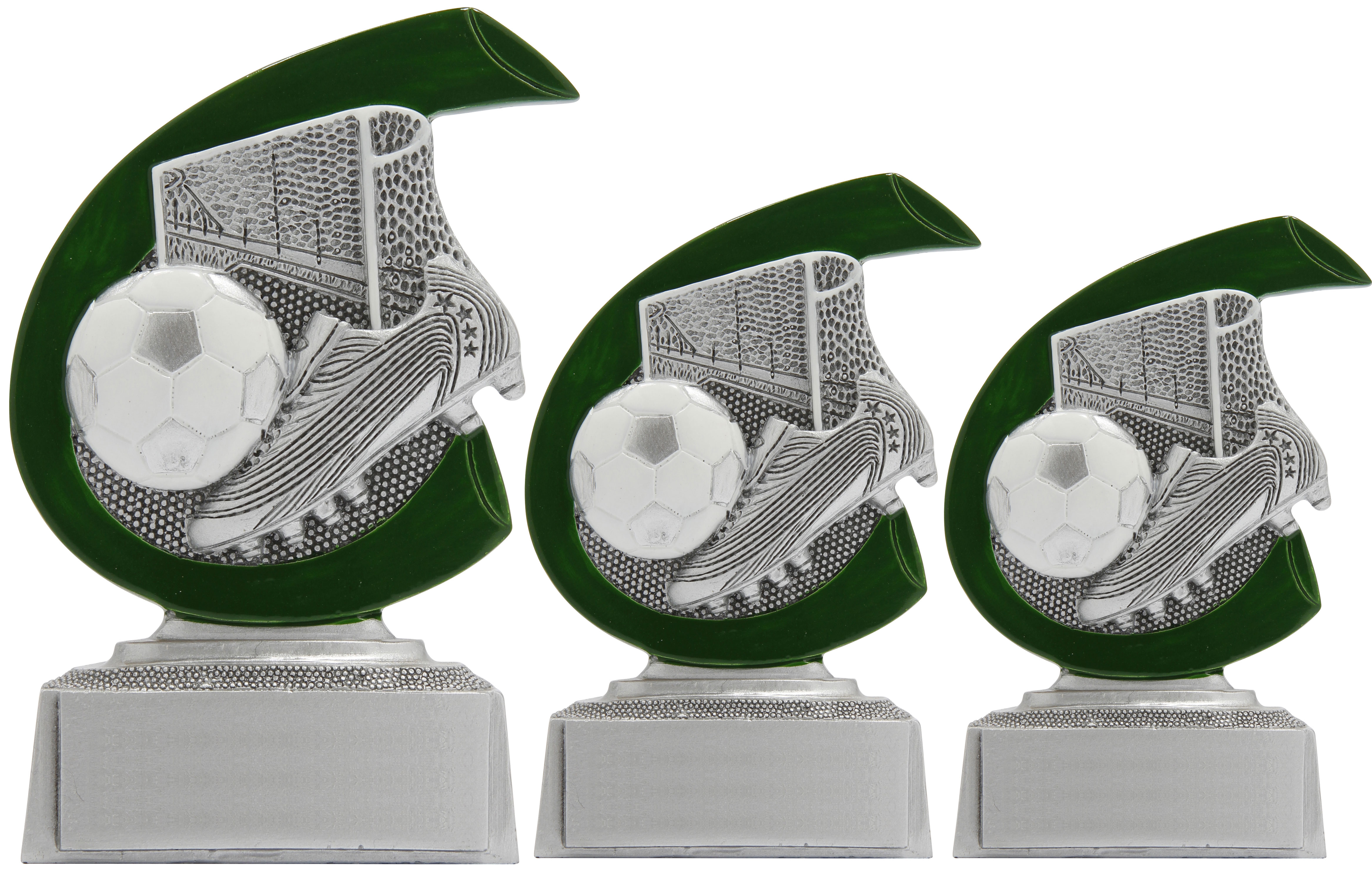 Fußball Trophäen 3er Serie Figuren Pokal ohne Emblem