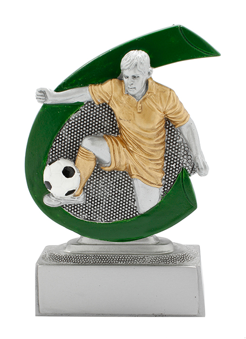 Fußballer-Preis in 7,5 cm Figuren Pokal ohne Emblem