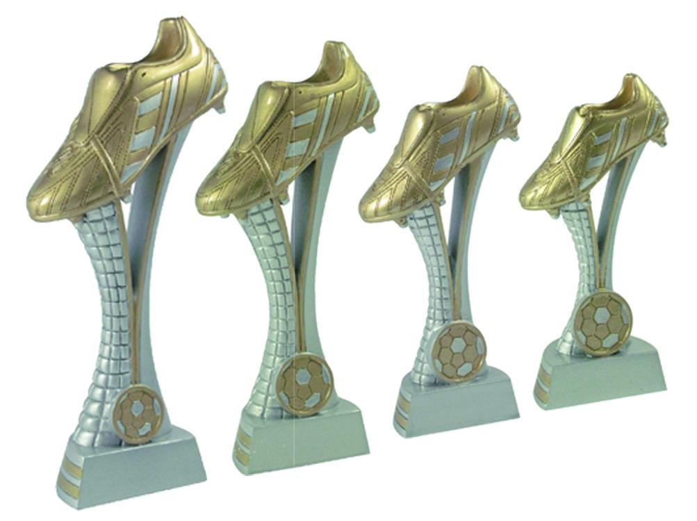 Fußballtrophäen aus 4er Serie 15 bis 25 cm Höhe Figuren Pokal ohne Emblem