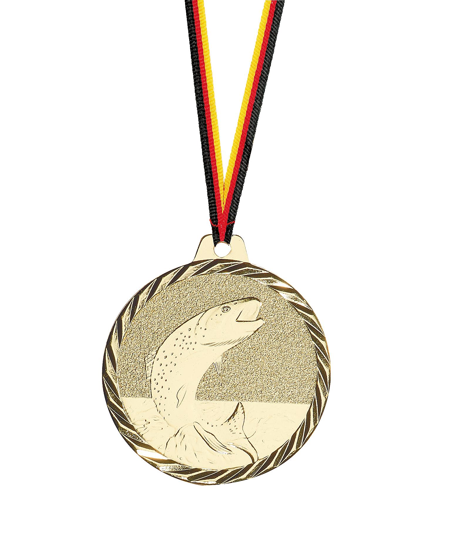 Angeln Medaille geprägt 50mm Ø Medaillen Premium hochwertig edel