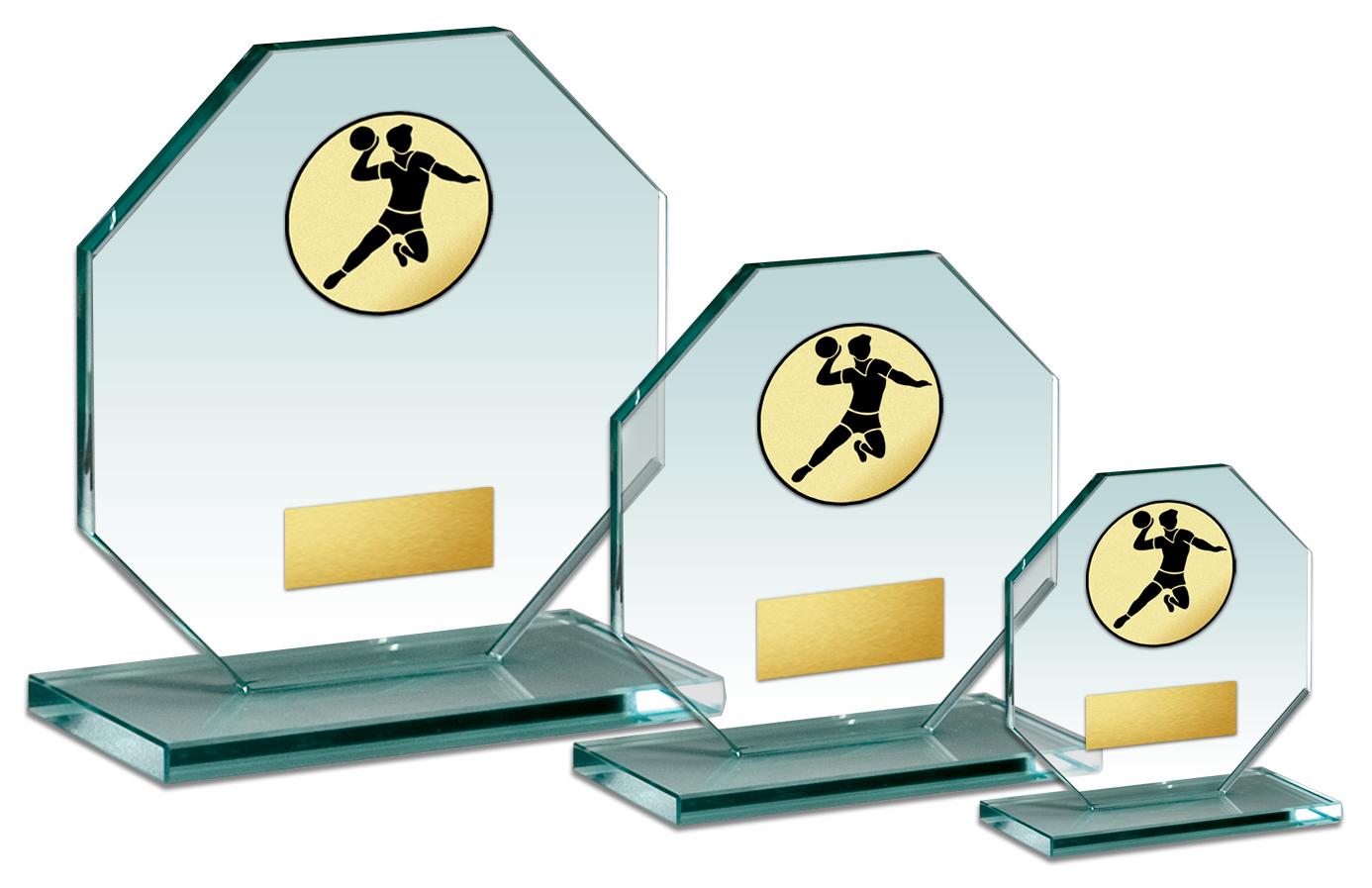 Glaspokal Serie  11-18cm Glastrophäen Glastrophäen mit Emblem