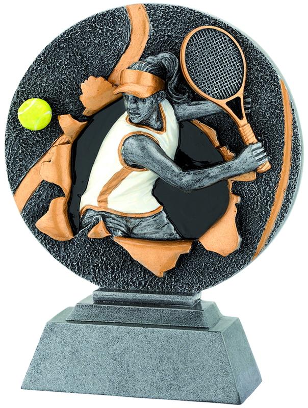 Tennis-Figur Poly-Resin