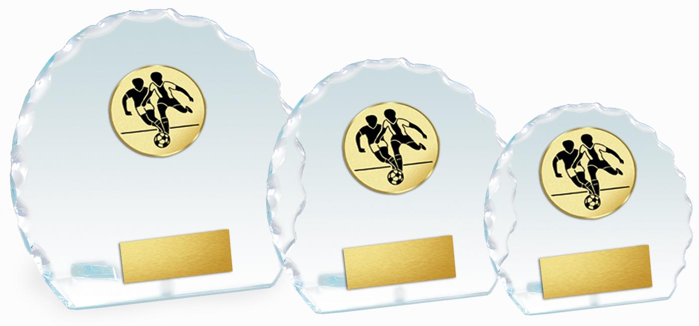 Glaspokal Serie 10-14 cm Glastrophäen Glastrophäen mit Emblem
