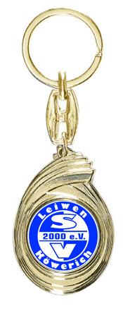 Schlüsselanhänger günstig mit Ihrem Logo Figuren Pokal ohne Emblem