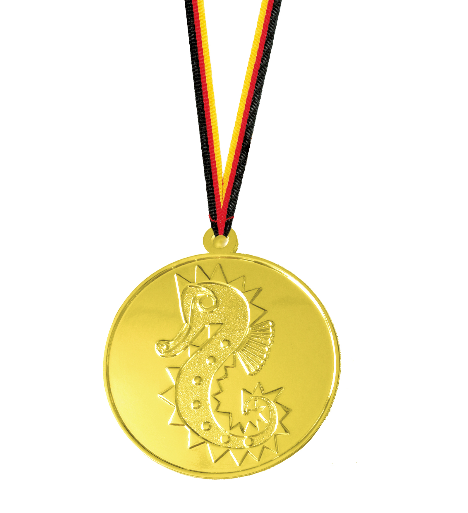 Seepferdchen Medaille geprägt Medaillen Premium hochwertig edel