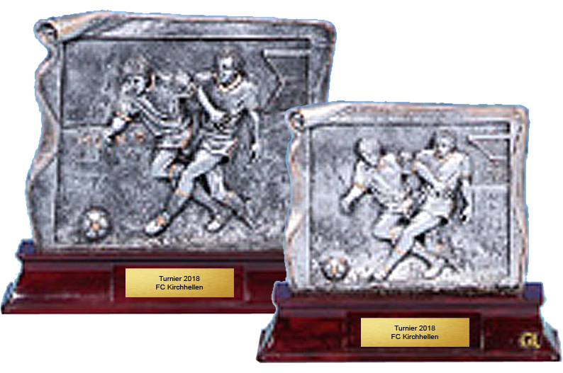 Fußball-Resinfigurserie 8- 21cm Figuren Pokal ohne Emblem
