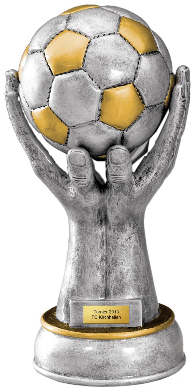 Fußball Figur 27cm Figuren Pokal ohne Emblem
