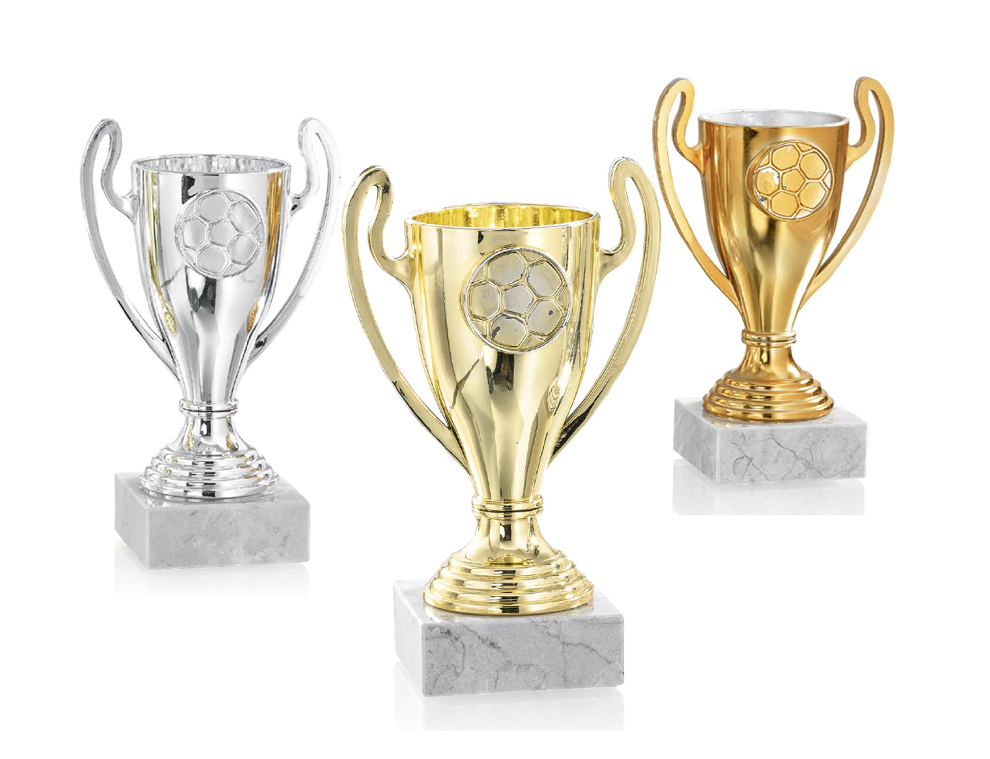Pokale aus 3er Pokalserie: 9-97-0941 - 9-97-0943, 13 cm