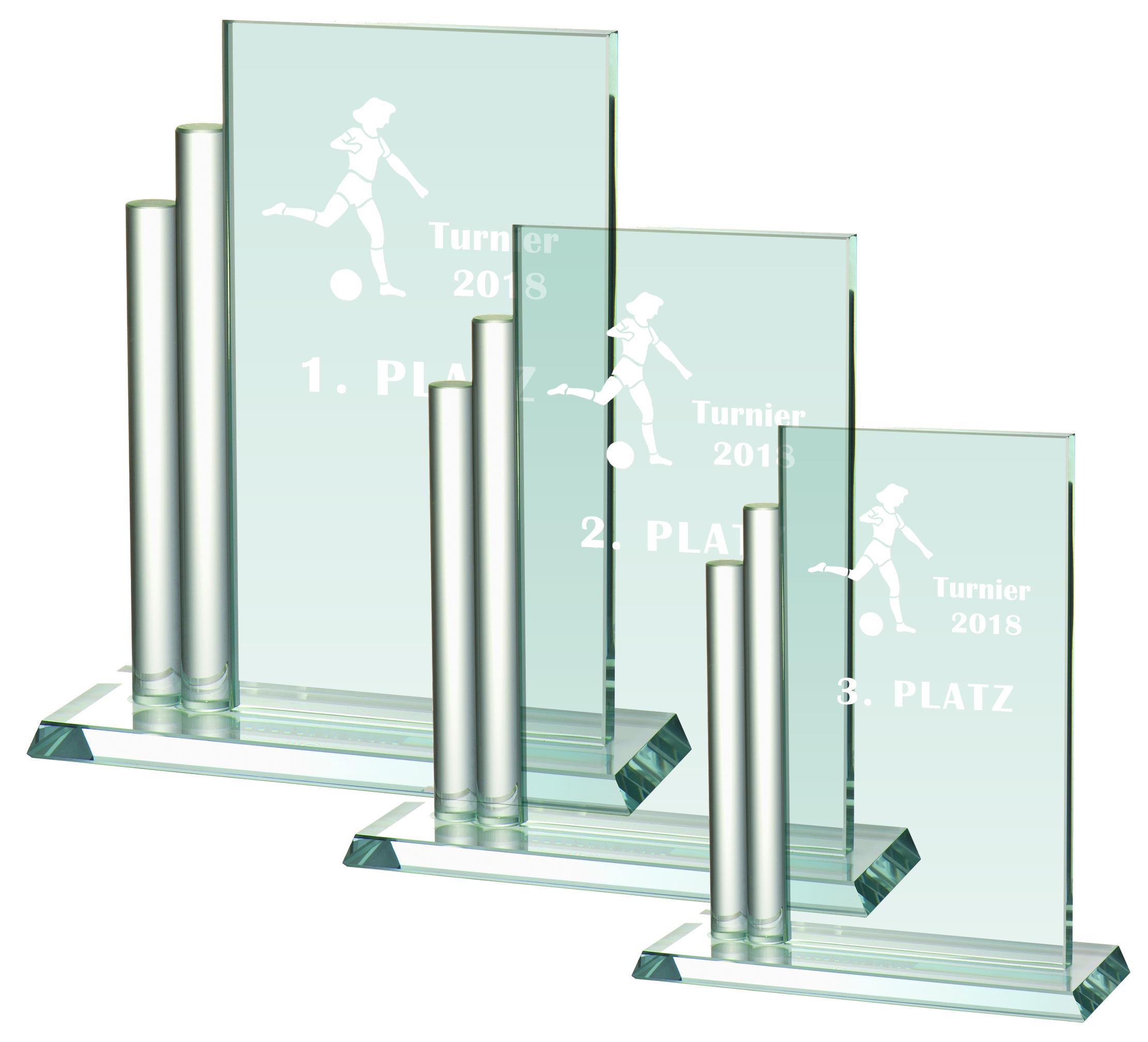 Glaspokal Serie 17,7 bis 23,5 cm Glastrophäen